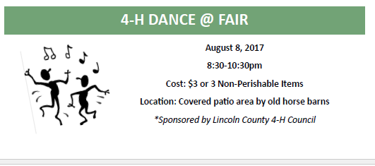 fair dance flyer