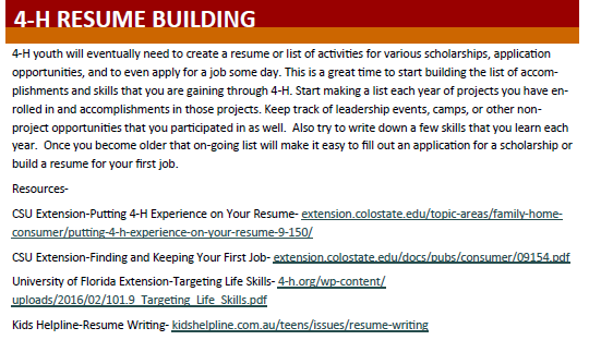 4-h.resume building article